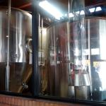 Brewhouse behind glass