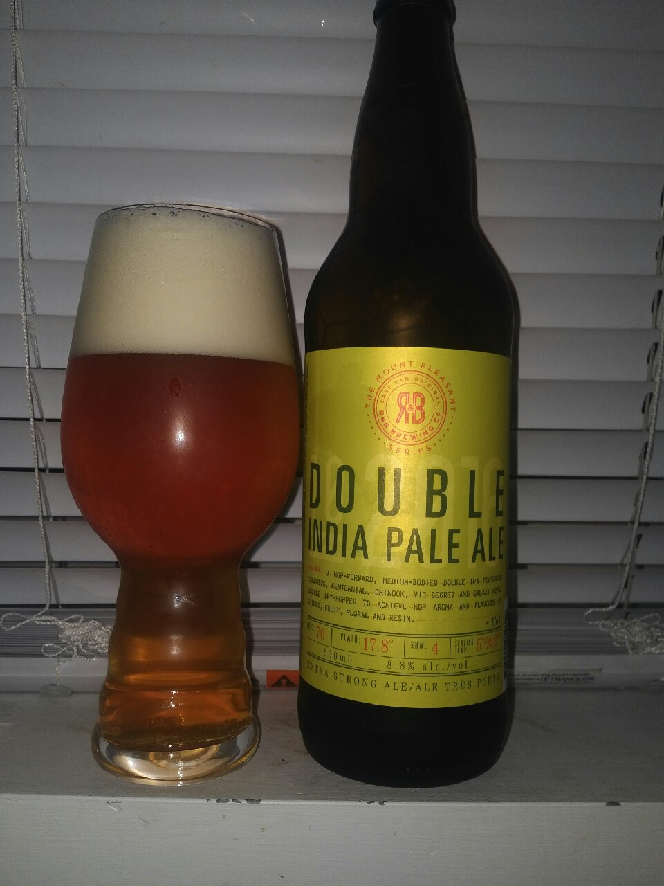 Double India Pale Ale– R&B Brewing (R and B Brewing) « Mike's Craft Beer